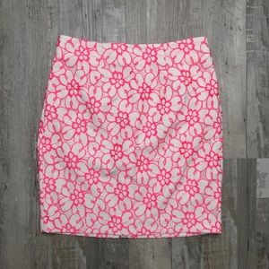 {Lilly Pulitzer} Floral Lace Hyacinth Pencil Skirt